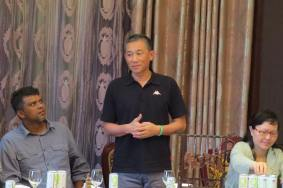 """ABF """"boss"""", Victor Yu, giving a speech in Mandarin while Andrew J. Sebastian seems to be doubting what Victor was saying =)"""