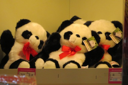 You know you have finally arrived in China when you see panda stuffed toys