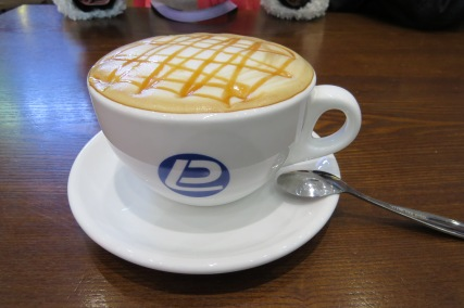 A cup of caramel machiatto to warm me up