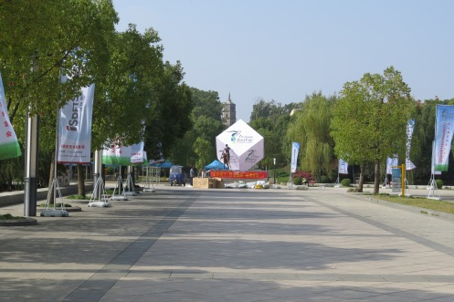 The main square where the outdoor exhibits and stands will be set up.