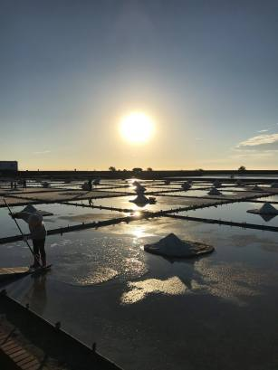 The Jingzaijiao Tile-paved Salt Field, Beimen, Tainan, Taiwan.