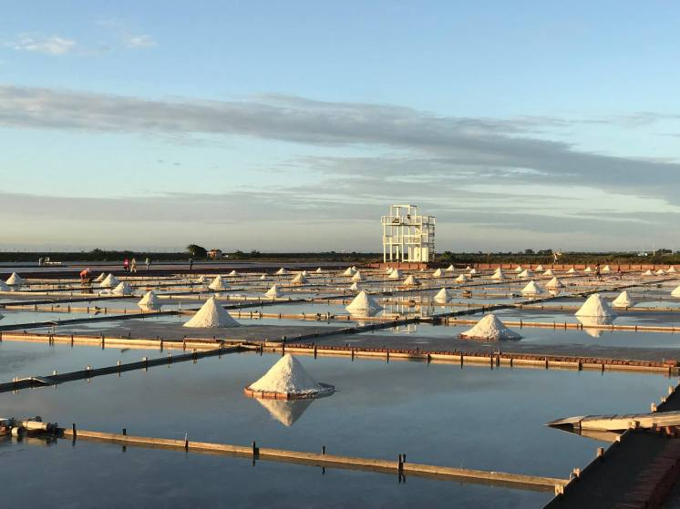 The Jingzaijiao Tile-paved Salt Field, Beimen, Tainan, Taiwan.