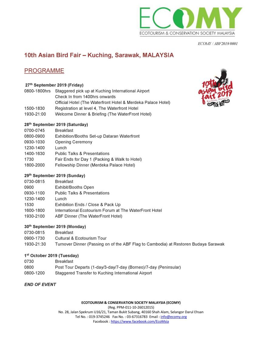 10th ABF Programme – updated 19 Sept 2019